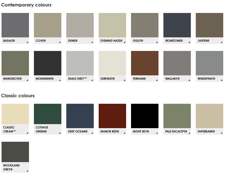 Colour Range Complete Roofing Warehouse